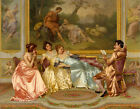 Canvas Print Painting Listen to the story of the ladies Printed on canvas L1098