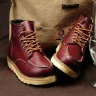 Mens High Top Wedge Heels Shoes Vogue Lace-up Casual Work Military Ankle Boots