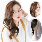 Lady Clip in Front Side Bangs Wavy Curly Heat Resistant Hair Extension One Piece