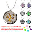 Essential Oil Diffuser Necklace Magnetic Locket + 24inch Beaded Chain + 7pc Pads