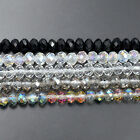 100pcs Czech Crystal Faceted Rondelle Beads 2x3mm 3x4mm 4x6mm 6x8mm 7x10mm 8x12m