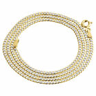 Real 10K Yellow Gold Solid Diamond Cut Cuban Link Chain 2mm Necklace 16-24 Inch