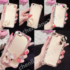 Bling 3D Handmade Diamonds TPU Ultra Soft Thin Clear Gel Case Cover For HTC