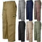 NEW MENS CARGO COMBAT ELASTICATED WAIST TROUSERS PANTS WORK CASUAL RUGBY BOTTOMS