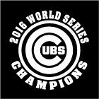 2016 World Series Champions Chicago Cubs Decal Sticker  Buy 2 Get 1 FREE on Ebay
