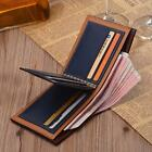 Men's Faux Leather Bifold Wallet Clutch ID Credit Card Holder Coin Pockets Purse