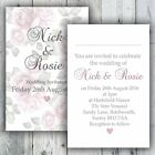 Luxury Personalised Vintage Rose Wedding Invitation Day or Evening