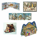 Large Antique Advent Calendar Traditional German Freestanding 3D free post in UK