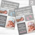 Personalised Rustic Boy or Girl Christening Baptism Invitations Invites