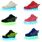 Upgraded Boys Girls LED Light up Lace Up Luminous Sneakers for Kids Casual Shoes