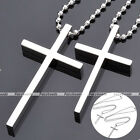 "HOT 19"" Couple Lover Stainless Steel Polish Classic Cross Pendant Chain Necklace"