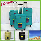 3Pc Lightest Spinner Luggage Travel Suitcase Rolling Trolley Super Lite 46-71cm