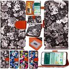 Fashion Flowers Leather Card Wallet Flip Stand Cover Case For iPhone 6 6s Plus