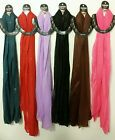 SOLID SPARKLY RAINBOW OF COLORS WOMANS POLYESTER LONG SCARF, STOLE, WRAP