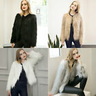 New Women Fashion Faux Fur Long Sleeve Gilet Wrap Shrug Jacket Coat Outwear Top