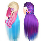 Hairdress Salon Cosmetology Colorful Hair Training Doll Hair Mannequin+Clamp Set