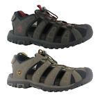 Hi-Tec Shore Men's Hiking Suede Leather Sandals Closed Toe Quick Lace with Strap