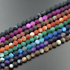 Natural Matte Stripe Agate Gemstone Round Loose Beads 15.5'' 6mm 8mm 10mm 12mm