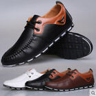 New Men England Sneakers Lace Up Driving Moccasin Loafer Flats Casual Shoes