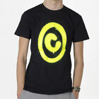 MEN'S T-SHIRT AVIT COPY-WRITE SCREEN PRINTED DESIGN BLACK / FLUORESCENT YELLOW