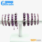 Handmade Natural Dream Lace Purple Amethyst Beaded Energy Healing Bracelet 7.5""