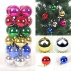 24X CHRISTMAS TREE BAUBLES XMAS DECORATION BALL 40MM SHATTERPROOF GLITTER GIFT