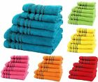 Luxury Cotton Stripe Vienna Towels Hand Bath Sheet 3 6 8 Piece Towel Bale Sets