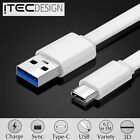 LAPTOP USB-C USB 3.1 TO USB 2.0 TYPE C DATA CHARGE CHARGING ADAPTER CABLE WHITE