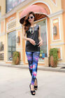 Q693 New Fashion Women Sexy 4 Colors Starry Sky Pattern Printing Leggings
