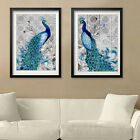 5D Diamond Painting Peacock Embroidery Cross Crafts Stitch DIY Home Decor