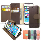 Leather Folio Dual Wallet Case Cover Silicone Case Stand For iPhone Galaxy LG