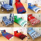 NEW FOOTBALL CLUB SINGLE DUVET QUILT COVER SETS BOYS KIDS BEDROOM BEDDING GIFT