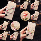 For Samsung Bling Crystals Handmade TPU Soft Transparent Back Case Cover #1