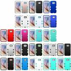 For Samsung Galaxy S6 Rubberized Hard Soft Shock Proof TUFF Hybrid Case Cover