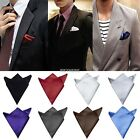 Mens HOT Satin Solid Plain Color Wedding Party Hanky Pocket Square K0E1