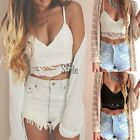 Women's Sexy Lace Sleeveless Crop Top Vest Ladies Bralet Bra Bralette Cami Tank