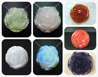 35MM / 40MM Rose Flower Gemsotne Sculpture Pendant Bead