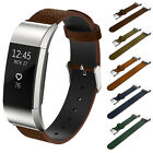 Premium Genuine Leather Watch Band Strap Bracelet Wrist Band For Fitbit Charge 2