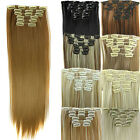 100% Natural Women Clip in Hair Extensions Straight Full Head Long As Human Hair