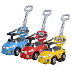 3in1 Kid Ride On Push Car Stroller Toddler Wagon Buggy w/Handle Music Play Toy