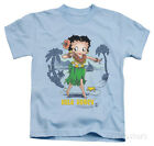 Juvenile: Betty Boop - Hula Honey Apparel Kids T-Shirt - Light Blue $14.99 USD