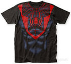 Spider-Man- Miles Morales Costume Tee Apparel T-Shirt - Black
