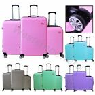 3 Pcs ABS Luggage Hard Suitcase Spinner Set Travel Bag Trolley Wheels Coded Lock