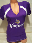 MINNESOTA VIKINGS TEAM NFL WOMANS V NECK SHIRT  NEW WITH TAGS