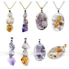 Irregular Amethyst Citrine Gold/Silver Copper Chic Pendant For Necklace Jewelry