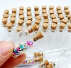 10/20pcs Mini Wish Bottles Glass Vials With Corks Pendant Charms Gift 6 Size