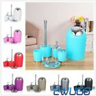 6Pcs Brand New Polished Bathroom Accessories Set Soap Dispenser Tumbler 17Colors