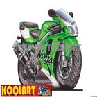 Koolart Cartoon Kawazaki ZX7R Ninja Green / White - Mens Gifts (664)