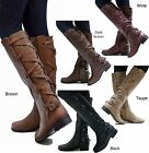 Kyпить New Women Gc1 Cognac Brown Black Buckle Riding Knee High Cowboy Boots  на еВаy.соm