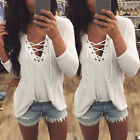 Fashion Womens Winter Long Sleeve Shirt Casual Blouse Loose Cotton Tops T Shirt